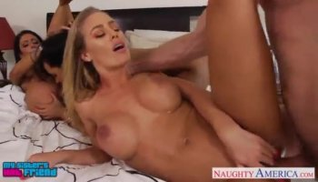 Sweet chick shares her wet mouth and shaved beaver
