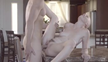 Teen Bella is late and rides with a perv