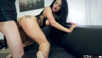 Doll favors her interviewer with a hawt groupsex