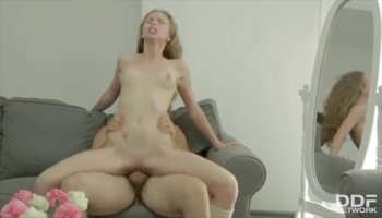 Glam bitch Loren fucked in her ass and mouth